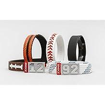 Pulsera de básquetbol/fútbol americano/béisbol/hockey BRAYCE con tu número del 00