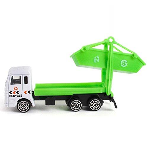 friendGG❤️❤️Kinder Spielzeug, Lernspielzeug,Junge Spielzeug ,Mädchen Spielzeug,Engineering Toy Mining Auto Truck Kinder Geburtstagsgeschenk Müllwagen Spielzeug (Grün)