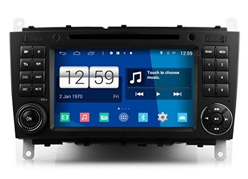 Roverone Système Android 7 Pouces double DIN EN Voiture Dash GPS Navi Navigation pour Mercedes-Benz W203 GLK W209 W467 C200 C180 CLS W219 avec autoradio stéréo DVD SD USB écran tactile