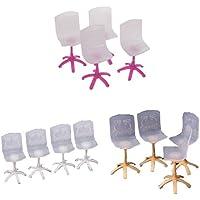 4 × Puppe Prinzessin Miniatur Möbel Stuhl für Barbie