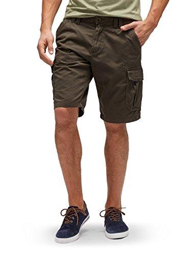 Flap-tasche Slim-jeans (TOM TAILOR Herren Shorts Twill Bermuda Morris, Grau (Dark Raven Grey 2151), W30)