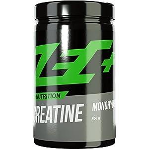 ZEC+ Creatin Monohydrat Pulver – 500 g reines Kreatinpulver geschmacksneutral, Kreatin Pulver für intensives Krafttraining & Bodybuilding, MADE IN GERMANY