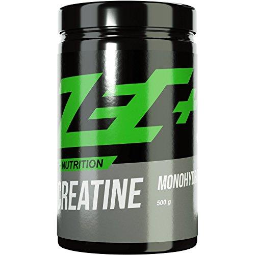 ZEC+ Creatin Monohydrat Pulver, reines Kreatinpulver für schnelleren Muskelaufbau & bessere Ausdauer im Kraftsport, 500 g Kreatin Pulver geschmacksneutral