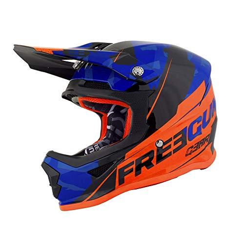 SHOT Casco Cross Freegun XP4Kid Hero Blu Neon Arancio