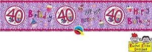 Rachel Ellen- Pancarta de fiesta, Color rosa (25055)