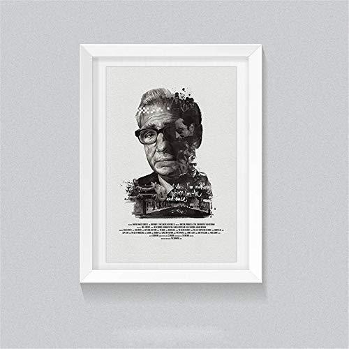 Rjjwai Schwarz Weiß Retro Poster Berühmte Regisseur Martin Scorsese Leinwand Malerei Ungerahmt Print Bilder Für Zuhause Wohnzimmer Dekor Schlafzimmer Dekor 60x90cm