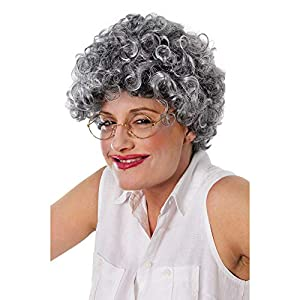 Old Lady Wig - Curly Grey (peluca)