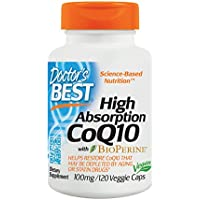 Doctor's Best High Absorption CoQ10 mit BioPerine, 100mg, 120 Veg.Kapseln preisvergleich bei billige-tabletten.eu