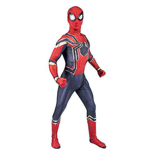 LXFBX Spiderman Cosplay Kostüm Spiderman Cosplay Kostüm Avengers Iron Spiderman Kind Erwachsene Kostüm Ball Strumpfhosen Superheld Cosplay Kostüm (Farbe : Adult, größe : ()