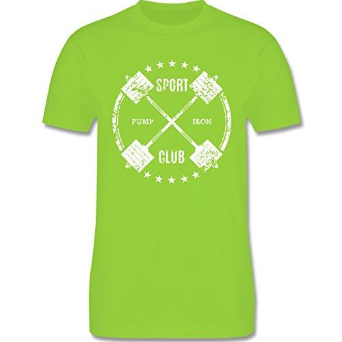 CrossFit & Workout - Sport Pump Iron Club - Herren Premium T-Shirt Hellgrün