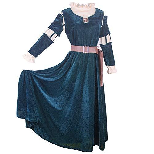 US-GRÖSSE Frauen Merida Adult Cosplay Kostüm Halloween bravw Prinzessin Merida Outfit für - Merida Kostüm Für Erwachsene