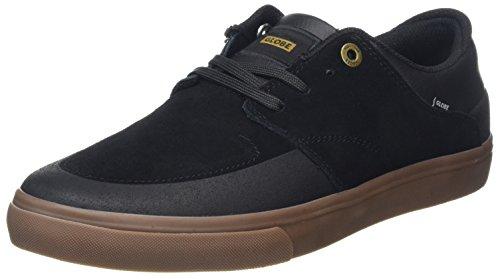 Globe Chase, Scarpe da Skateboard Uomo Black (Black/Gum)