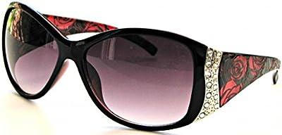 Deporte diseño de gafas de sol moda Rhinestone gafas Vintage Floral VOX mujeres
