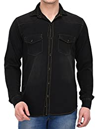 Lafantar Men's Cotton Denim Shirts