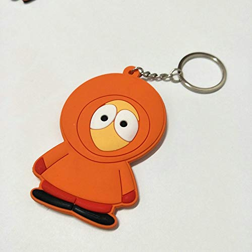 TUDUDU South Park Cartoon Cosplay PVC Schlüsselanhänger Stan Marsh Kyle Broflovski Niedlich Lustige Silicona para Lamellen Pendant Schmuck Accessoires (South Park Stan Cosplay)