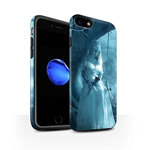 Officiel Elena Dudina Coque / Matte Robuste Antichoc Etui pour Apple iPhone 7 / Luz Sombra Design / Art Amour Collection Luz Sombra