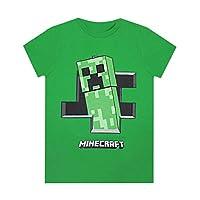 Minecraft Creeper Inside Boys Green Short Sleeve Gamers T-Shirt (5-6 Years)