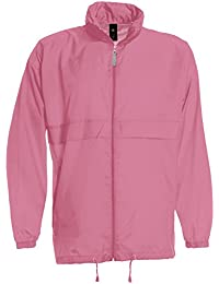 B&C Collection Men's Full Zip Foldaway Concealed Hood Windbreaker Jackets S-3XL