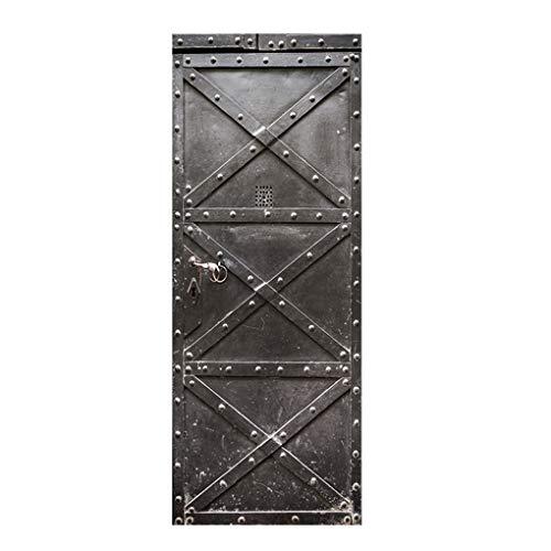-Tür-Wand-Aufkleber Wasserdicht Startseite PVC-Fenster Badezimmer Tapete DIY Removable-Dekoration-Abziehbild ()