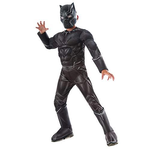 SEJNGF Boy Panther Super Hero Cosplay Kostüm Cosplay Halloween Kostüm Ball Set (Kopfbedeckung Kann Getrennt - Kid's Captain Black Piraten Kostüm