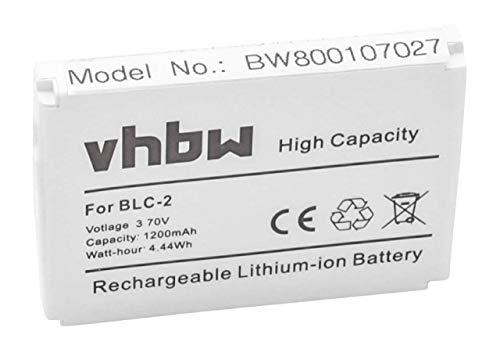 vhbw Li-Ion Akku 1200mAh (3.7V) für Smartphone, Telefon, Handy Obi Wolverine S501 wie BLC-1, BLC-2.
