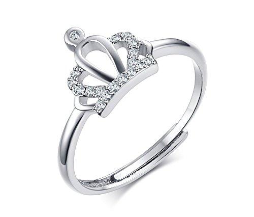 Vnox 925 Sterling Silver Zirconia Crown Princess