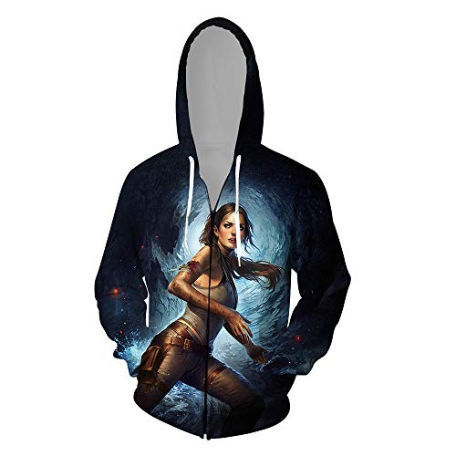 ck Hoodie Kapuzenpullover Langarm Sweatshirt Kapuzenjacke Mit Tunnelzug Pullover Taschen Top Shirt Weihnachten Herbst Rise of The Tomb Raider Zipper XL ()