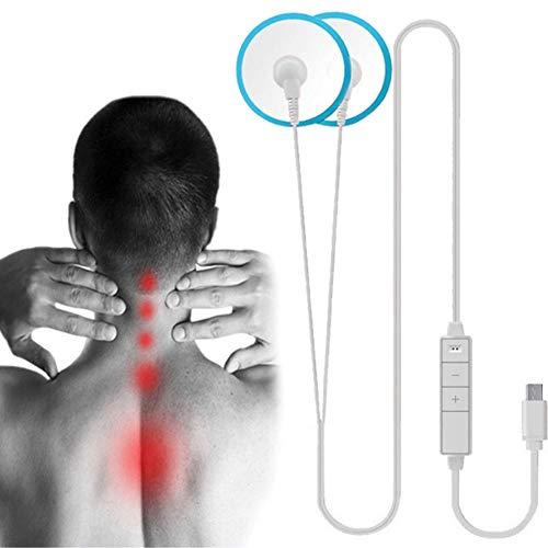 HLDWXN Hals Massagegerät Hals-Physiotherapie-Instrument, Intelligente drahtgesteuerte Massagegerät tragbare Handy direkte Ladung Massage Instrument Taille Gebärmutterhalskrebs,Typec