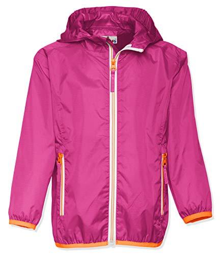 Playshoes Kinder Regenjacke mit Kapuze, faltbare Funktions-Jacke für Mädchen und Jungen , Rosa (pink 18) , 116