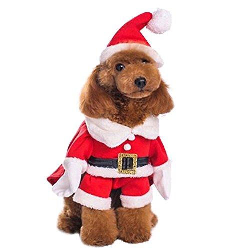 Outgoings weihnachten haustier hund katze der 3d - kostüm xmas - outfit - winterkleidung mit hut
