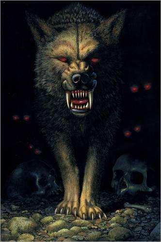 Unbekannt Forex-Platte 80 x 120 cm: Dämonenwolf von Chris Hiett/MGL Licensing