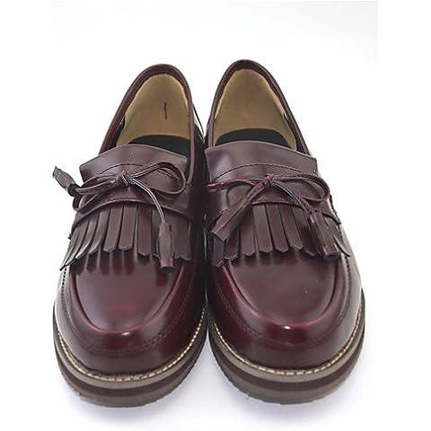 Mocasines de mujeres & Confort Slip-Ons PU Baja Casual Heel Shoes,Negro,US6.5-7 / UE37 / UK4,5-5 /
