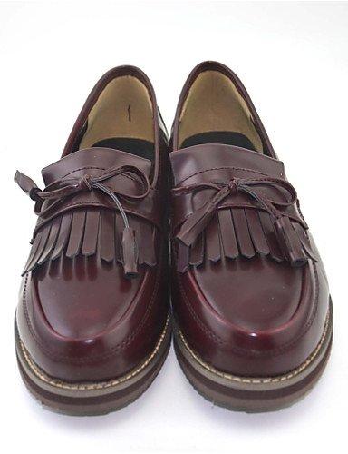 Donna mocassini & Comfort Slip-Ons PU Casual bassa scarpe a tacco,Black,noi6.5-7 / EU37 / UK4,5-5 / CN37
