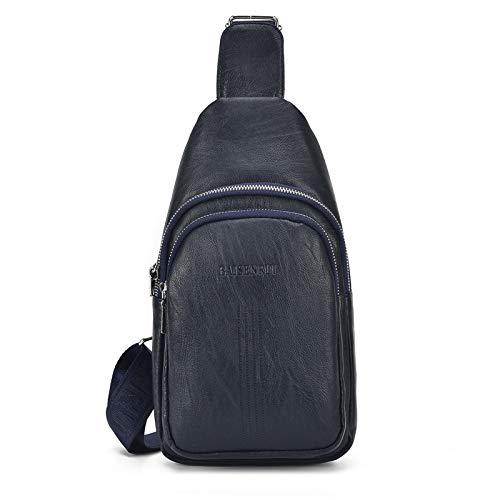 Nuova borsa imitazione petto di pecora borsa casual moda maschile borsa multi-funzione tracolla a tracolla fabbrica blu -11 20-30L