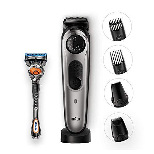 Braun BT7040 -  Recortadora barba y cortapelos,  para pequeños detalles,  afeitadora mini,  color negro/gris