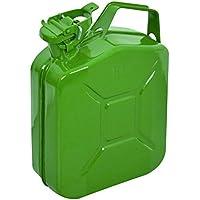 CARPOINT Bidón de gasolina 5L metal verde TUV/GS