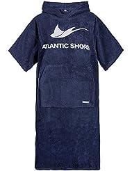 Atlantic Shore | Surf Poncho (Unisex) * Peignoir / Déshabillé de cotton de haute qualité ➤ Bleu foncé