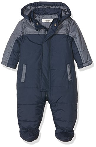 NAME IT Baby-Jungen Schneeanzug Nitmarinus Wholesuit Mznb, Mehrfarbig (Dress Blues), 80 (Herstellergröße: 74-80)