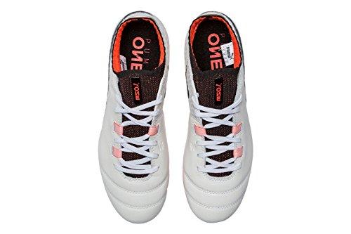 Puma Unisex-Kinder One 17.1 Fg Jr Fußballschuhe Weiß (White-Black-Fiery Coral)