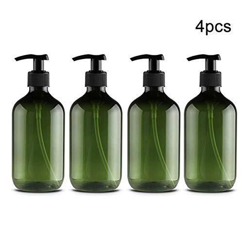 Lotion-spender-flasche (Kitchnexus 4 Stück 500ml Seifenspender Lotionspender Leer Flasche mit Schwarz Lotion Pumpe Spender Ideal für Küche Bad)