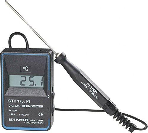 GREISINGER GTH 175/PT Temperatur-Messgerät, Thermometer -199,9Sensor 199,9°C Pt 1000Eintauchen -