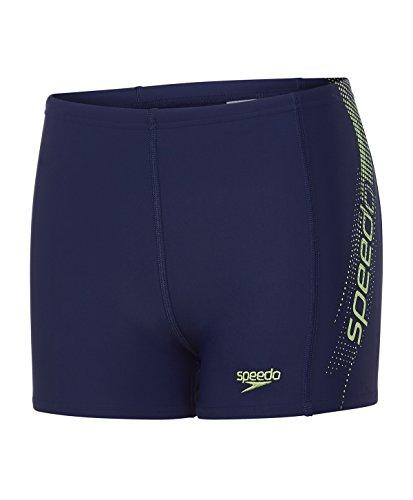 Speedo Jungen Sports Logo Panel Aquashorts Swimwear Navy/Apple Green 164