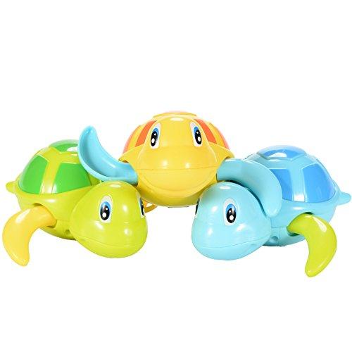 n Schildkröten Wind up schwimmende Bad / Pool / Wanne Toys Uhrwerk Kette Wasser Tier Design für Säuglinge / Babis / Kinder / Kinder (Tmnt Farben)