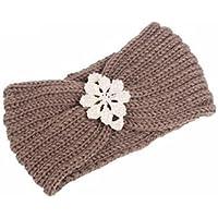 FowerYY Moda de Invierno cálido Hecho a Mano de Punto Diadema señoras Banda para el Cabello decoración