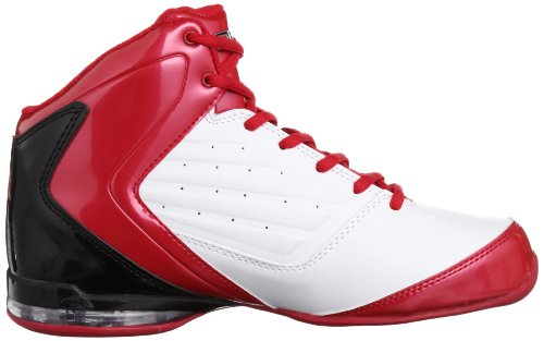 And1 Master 2 Mid, Chaussures de Basketball Homme blanc (White/Varsity Red/Black)