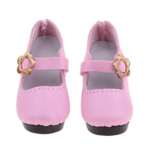 Baoblaze 1 Paar Hochhackige Puppenschuhe High Heels Pumps Hohe Absätze Für 1/3 BJD Mädchen Puppe - # 8 - Rosa