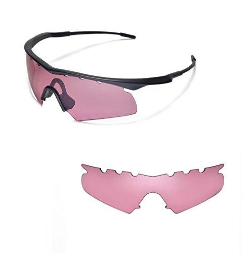 Walleva Belüftet Ersatz Objektive Oder Objektive mit Schwarz Nosepad für Oakley M Rahmen Hybrid Sonnenbrille-22Optionen erhältlich, Rose