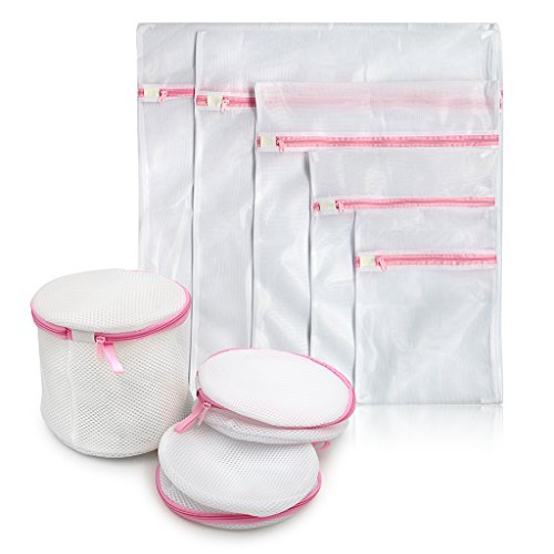 Sumnacon 8 Filet à linge/lavage , 8 pièces sacs à linge/lavage ,Economisés et Utilitaires pour famille(Blanc)