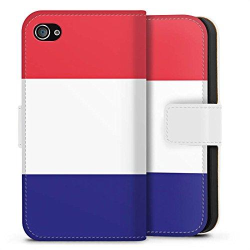 Apple iPhone X Silikon Hülle Case Schutzhülle Frankreich Flagge Fußball Sideflip Tasche weiß