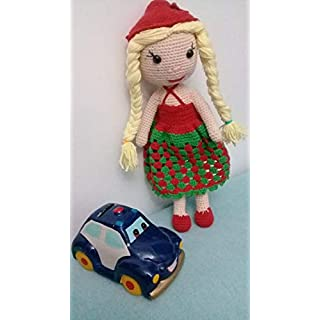 Autokleidung Plüsch Baby Spielzeug einzigartig aus Baumwolle handgemacht Amigurumi - Größe 30 cm